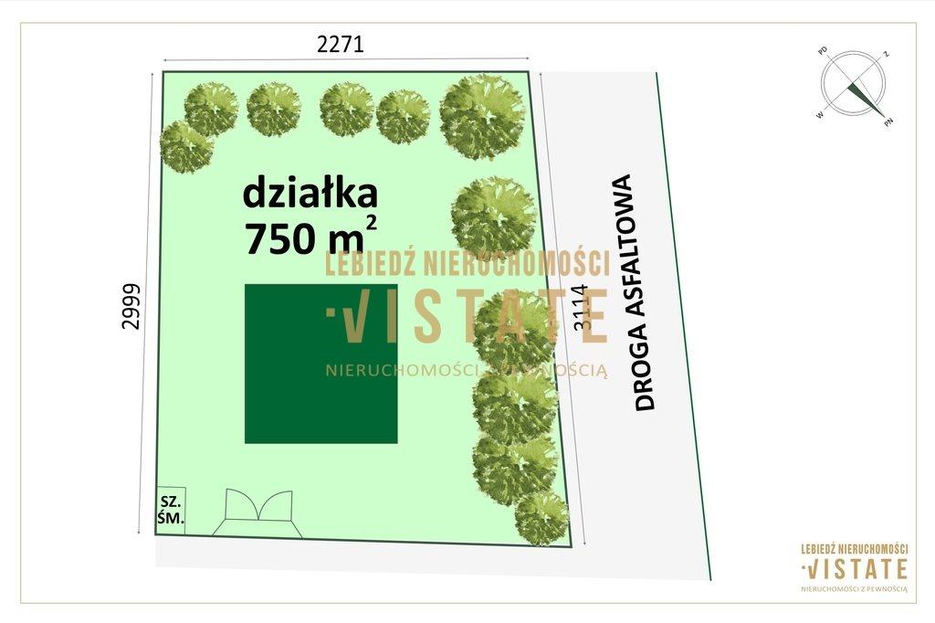 Działka budowlana na sprzedaż Wymysły  750m2 Foto 2