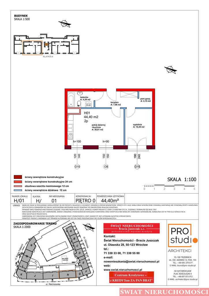 Mieszkanie dwupokojowe na sprzedaż Trzebnica  44m2 Foto 2