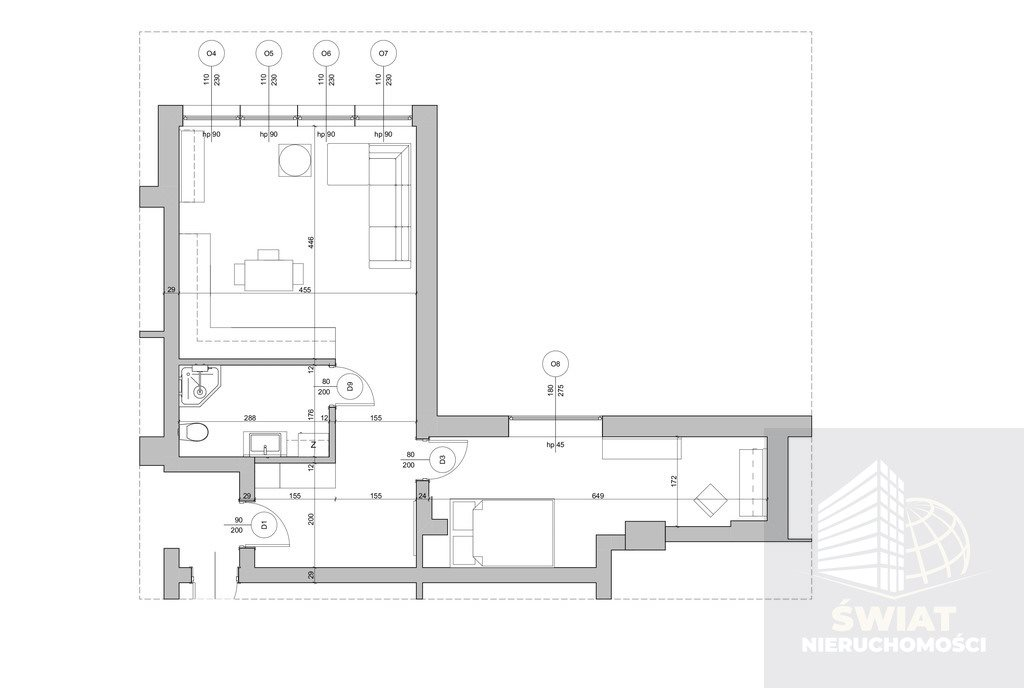 Mieszkanie dwupokojowe na sprzedaż Gryfino  48m2 Foto 6