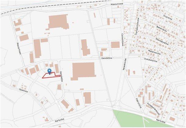 Działka przemysłowo-handlowa pod dzierżawę Gdańsk, Kokoszki, Geodetów  4209m2 Foto 4