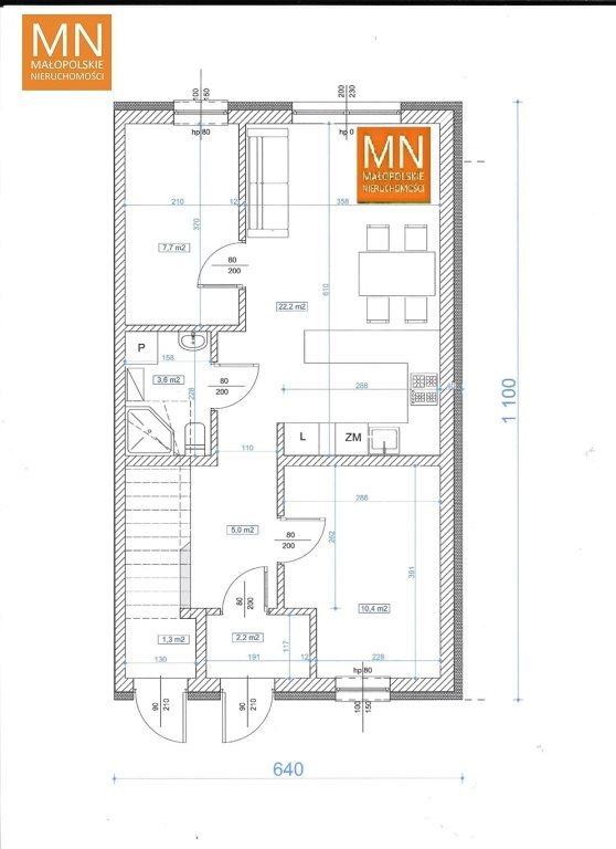 Mieszkanie trzypokojowe na sprzedaż Niepołomice  52m2 Foto 9