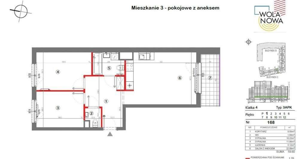 Mieszkanie trzypokojowe na sprzedaż Warszawa, Wola, Jana Kazimierza  62m2 Foto 1