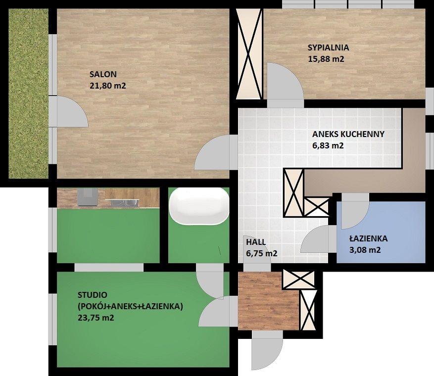 Mieszkanie trzypokojowe na sprzedaż Warszawa, Ursynów, Ursynów, Pięciolinii  83m2 Foto 15