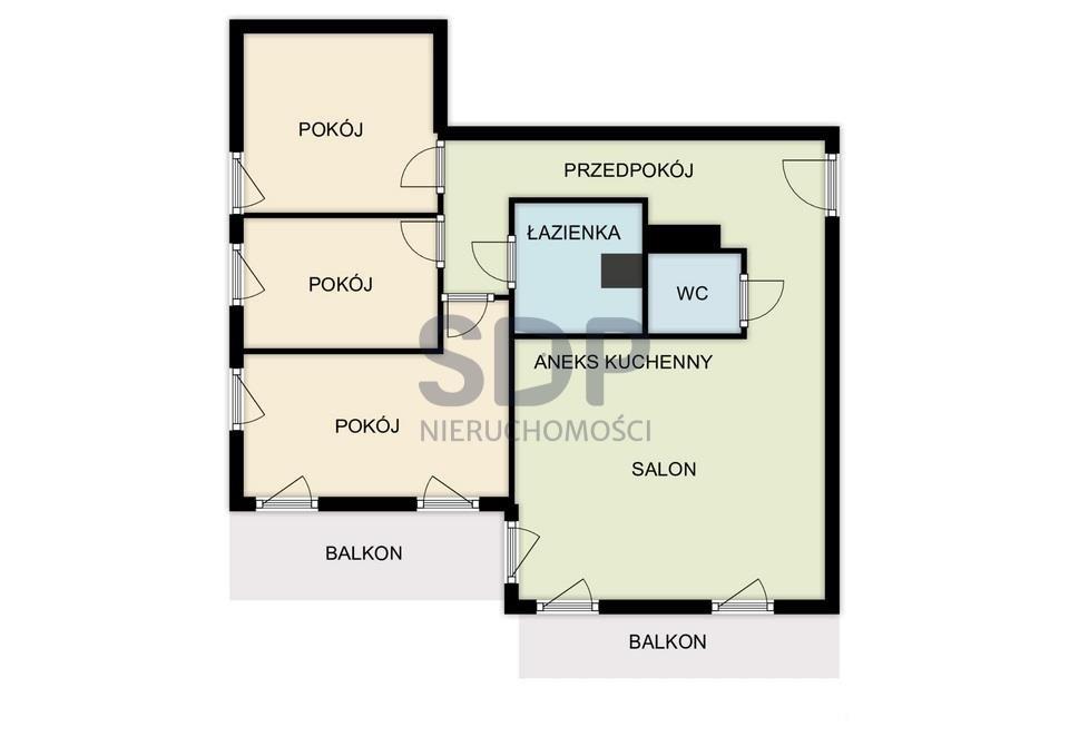 Mieszkanie czteropokojowe  na sprzedaż Wrocław, Fabryczna, Grabiszyn, Ok. Grabiszyńskiej  101m2 Foto 3