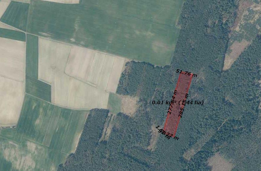 Działka leśna na sprzedaż Jemielnica  14500m2 Foto 1