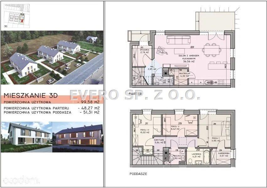Mieszkanie czteropokojowe  na sprzedaż Wilczyce  100m2 Foto 5