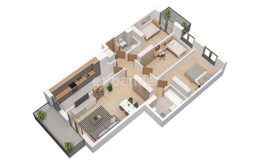 Mieszkanie czteropokojowe  na sprzedaż Poznań, Marcelin, Jeleniogórska  87m2 Foto 8