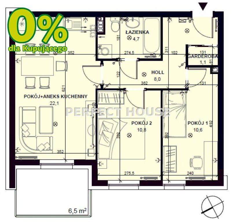Mieszkanie dwupokojowe na sprzedaż Pobiedziska  57m2 Foto 7