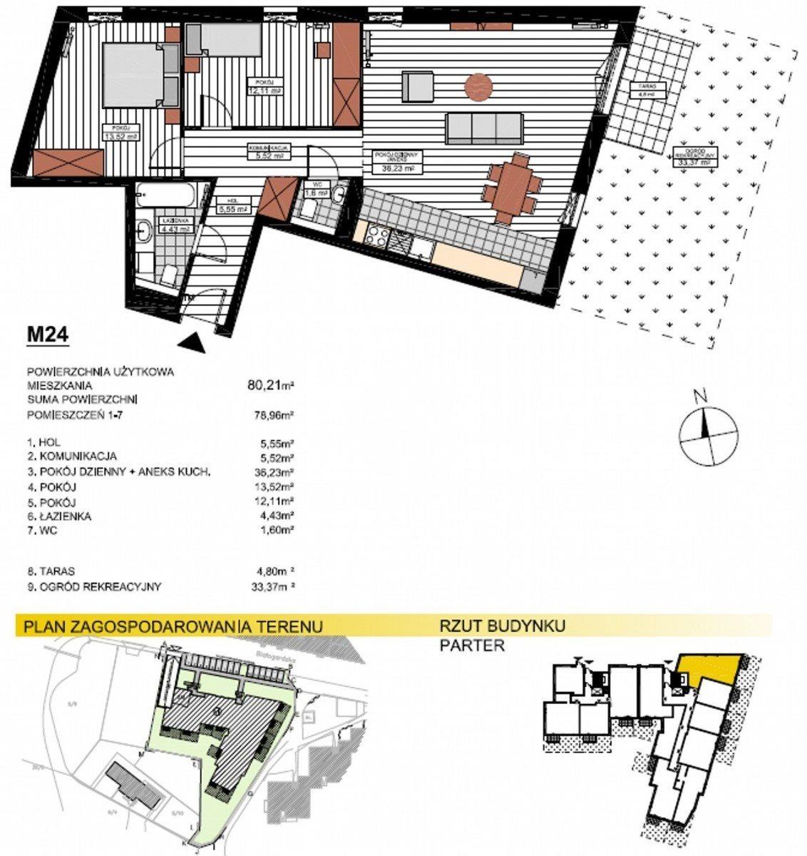 Mieszkanie trzypokojowe na sprzedaż Bydgoszcz, Glinki  80m2 Foto 8