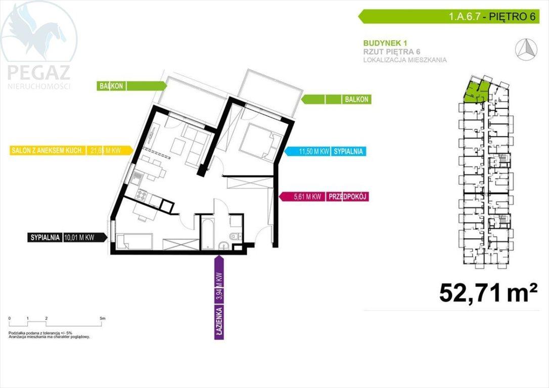 Mieszkanie trzypokojowe na sprzedaż Poznań, Nowe Miasto  53m2 Foto 3