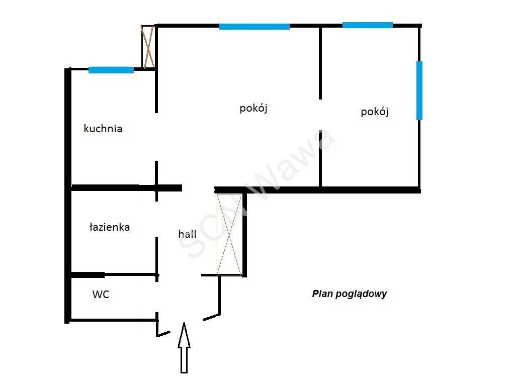 Mieszkanie dwupokojowe na sprzedaż Warszawa, Śródmieście, Górnośląska  50m2 Foto 4