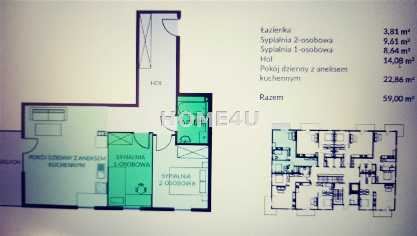 Mieszkanie trzypokojowe na sprzedaż Bielsko-Biała  59m2 Foto 4