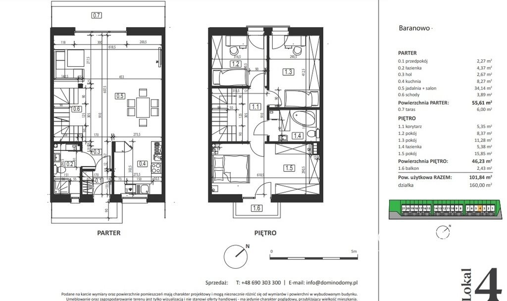 Mieszkanie czteropokojowe  na sprzedaż Baranowo, Szamotulska  102m2 Foto 6