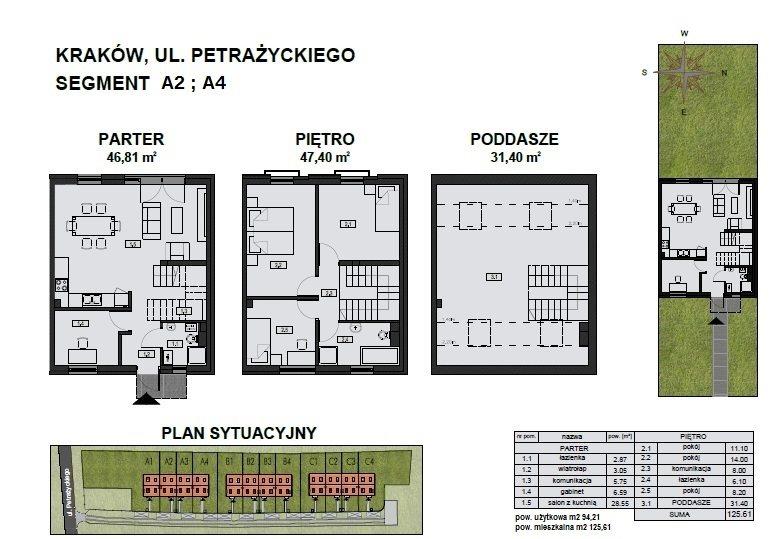 Dom na sprzedaż Kraków, Podgórze, Petrażyckiego  125m2 Foto 8