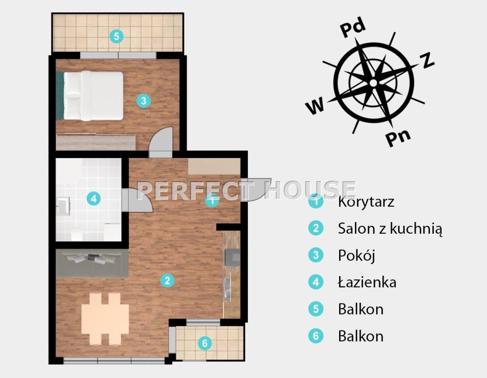 Mieszkanie dwupokojowe na sprzedaż Poznań, Grunwald, Brzask  60m2 Foto 6