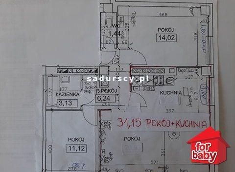 Mieszkanie trzypokojowe na sprzedaż Kraków, Grzegórzki, Grzegórzki, Aleja Pokoju  66m2 Foto 9