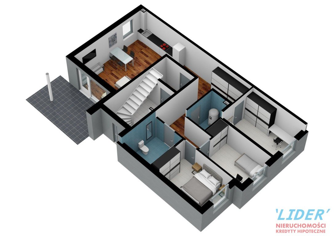 Mieszkanie czteropokojowe  na sprzedaż Tychy, Z-1  88m2 Foto 12