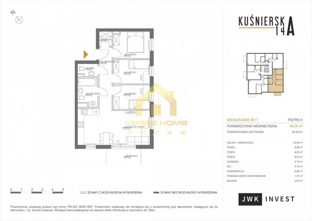 Mieszkanie czteropokojowe  na sprzedaż Gdynia, Obłuże, Kuśnierska  67m2 Foto 7
