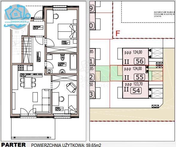 Mieszkanie trzypokojowe na sprzedaż Porosły  60m2 Foto 4