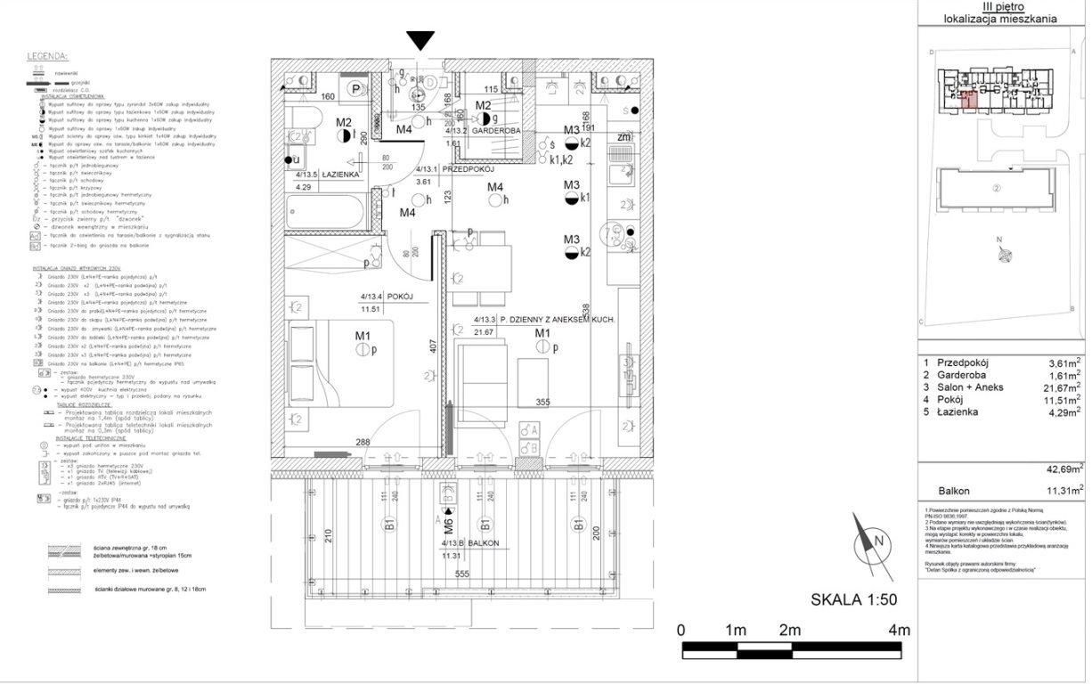 Mieszkanie dwupokojowe na sprzedaż Kielce, Baranówek  43m2 Foto 9