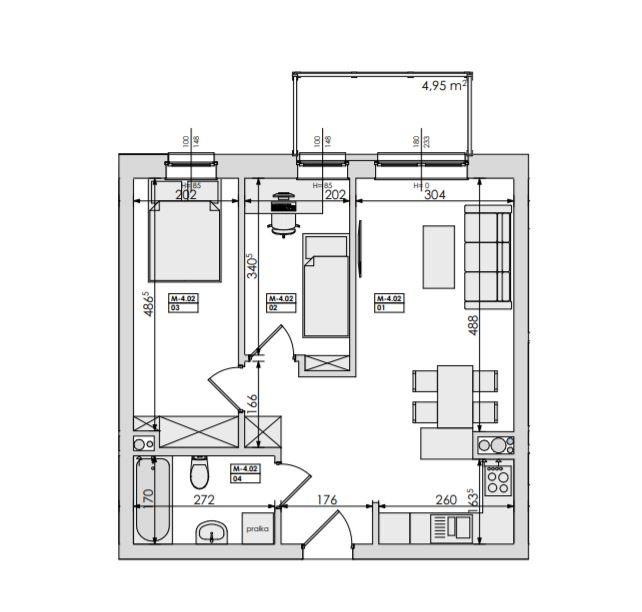 Mieszkanie trzypokojowe na sprzedaż Poznań, Jeżyce, Podolany, Jasielska  49m2 Foto 6