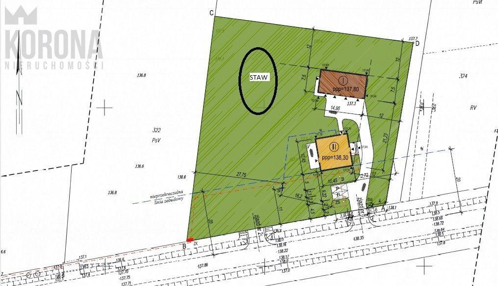 Działka budowlana na sprzedaż Hołówki Duże  3836m2 Foto 1