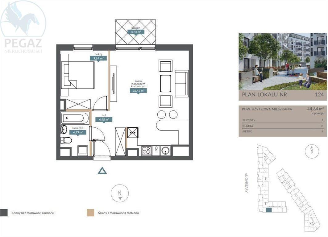 Mieszkanie dwupokojowe na sprzedaż Poznań, Centrum  45m2 Foto 3