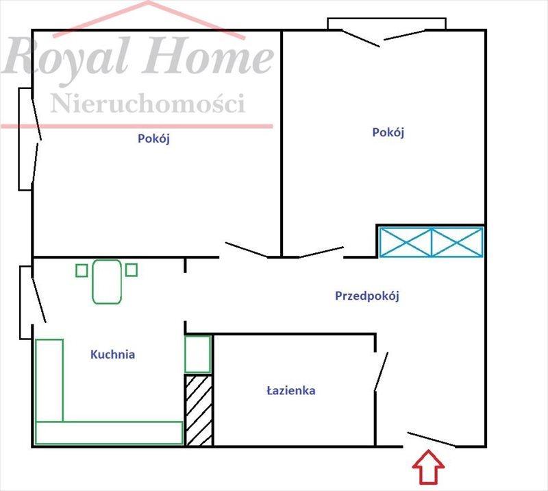 Mieszkanie dwupokojowe na sprzedaż Wrocław, Śródmieście, Śródmieście, Dubois  46m2 Foto 13