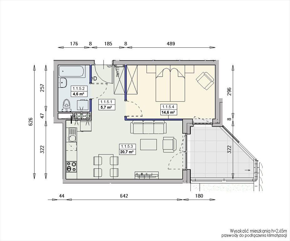 Mieszkanie dwupokojowe na sprzedaż Wrocław, Swojczyce  46m2 Foto 2
