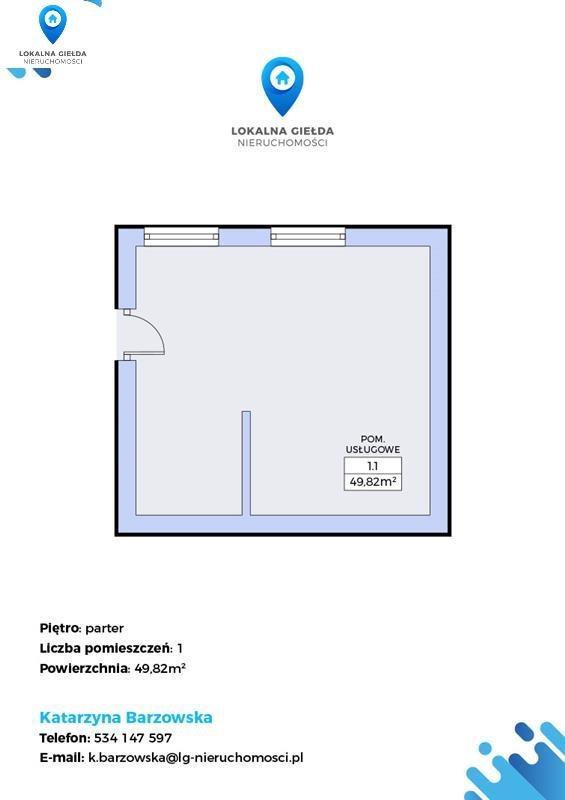 Lokal użytkowy na sprzedaż Wejherowo, Centrum handlowe, Kościół, Plac zabaw, Przedszkole, Rybacka  50m2 Foto 2