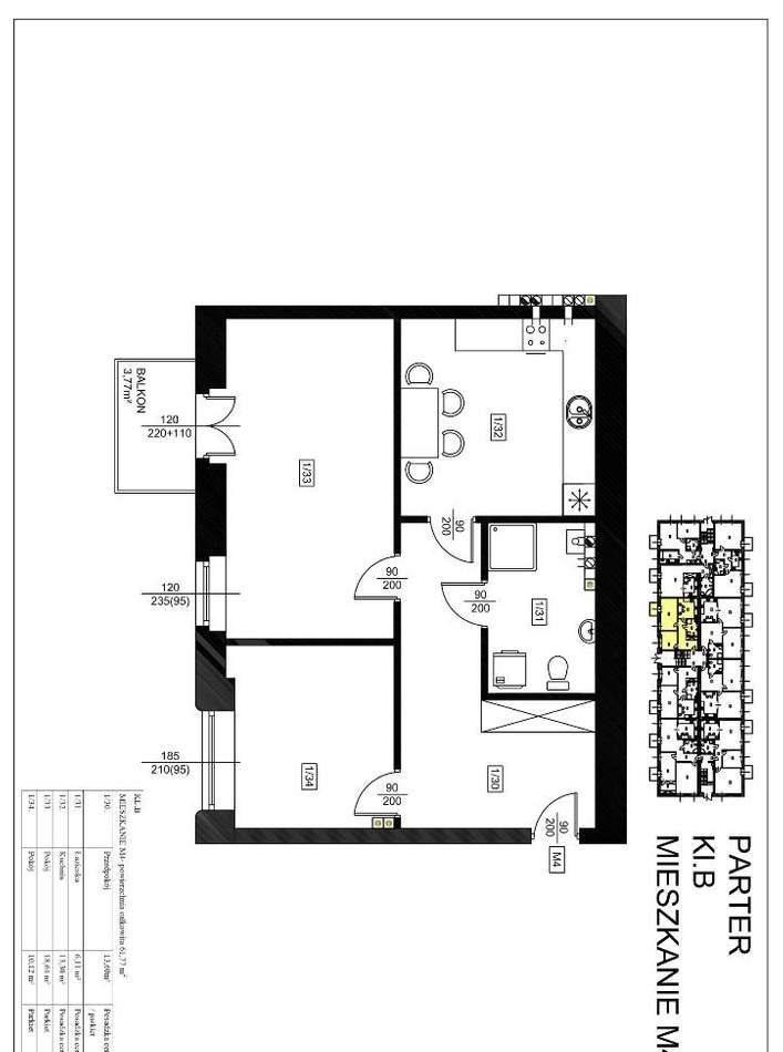 Mieszkanie dwupokojowe na sprzedaż Szprotawa  61m2 Foto 5