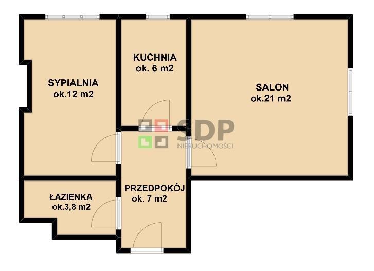 Mieszkanie dwupokojowe na sprzedaż Wrocław, Krzyki, Huby, Sernicka  50m2 Foto 4
