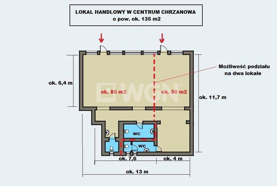 Lokal użytkowy na wynajem Chrzanów, centrum, Al Henryka  85m2 Foto 4
