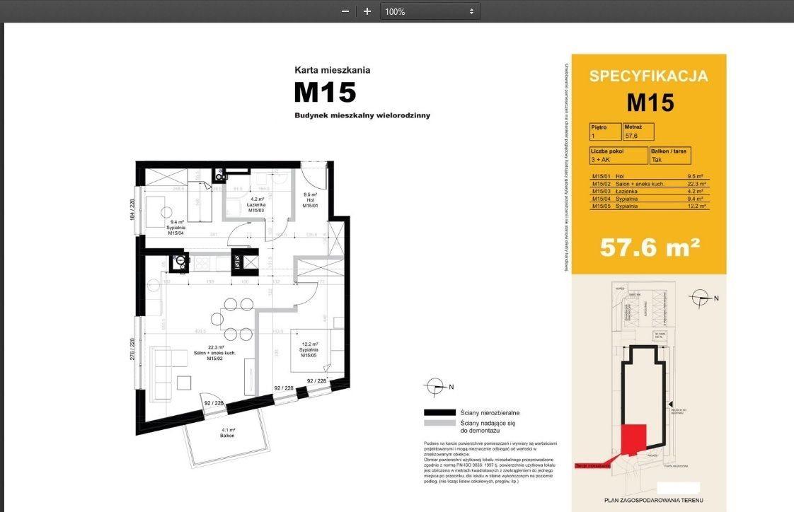 Mieszkanie trzypokojowe na sprzedaż Poznań, Jeżyce, Winiary  58m2 Foto 3