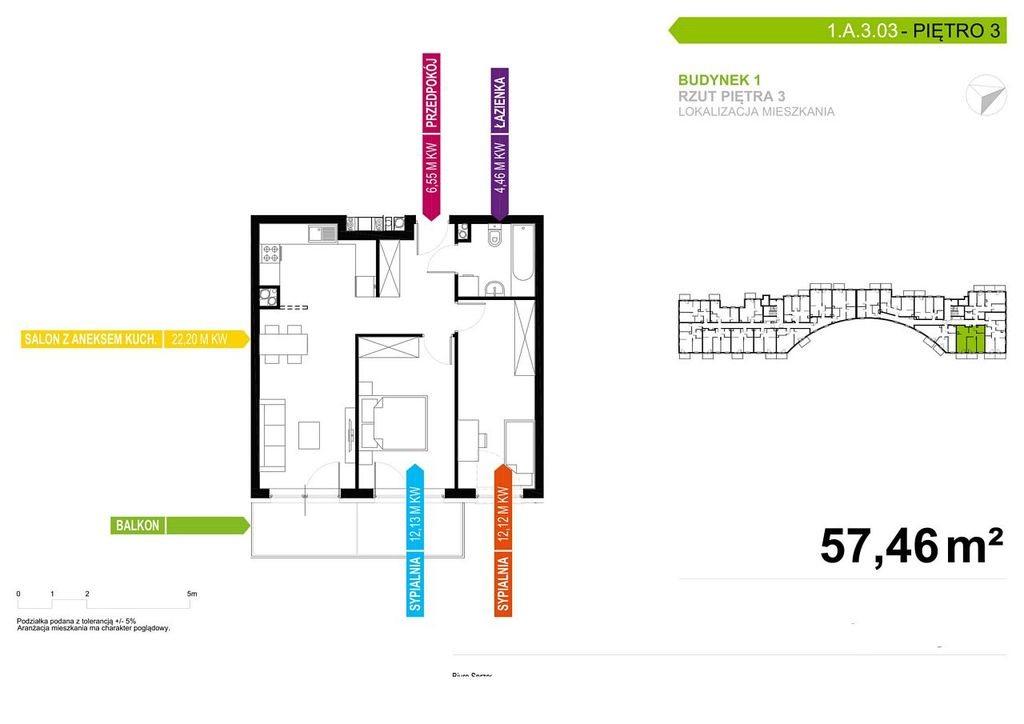Mieszkanie trzypokojowe na sprzedaż Poznań, Chartowo, Chartowo, abp. Walentego Dymka  57m2 Foto 5
