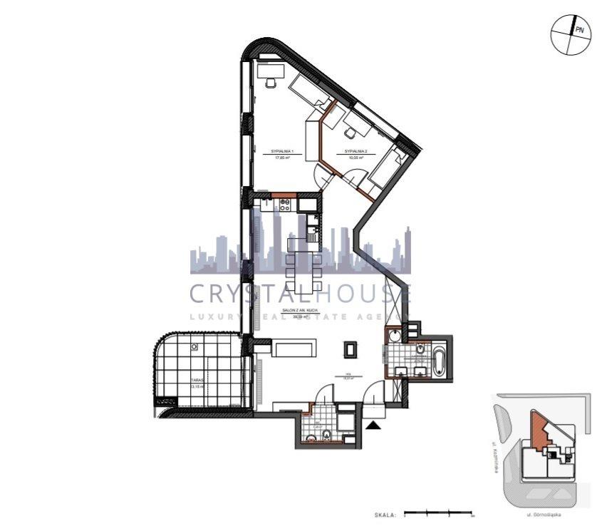 Mieszkanie trzypokojowe na sprzedaż Warszawa, Śródmieście, Górnośląska  91m2 Foto 9