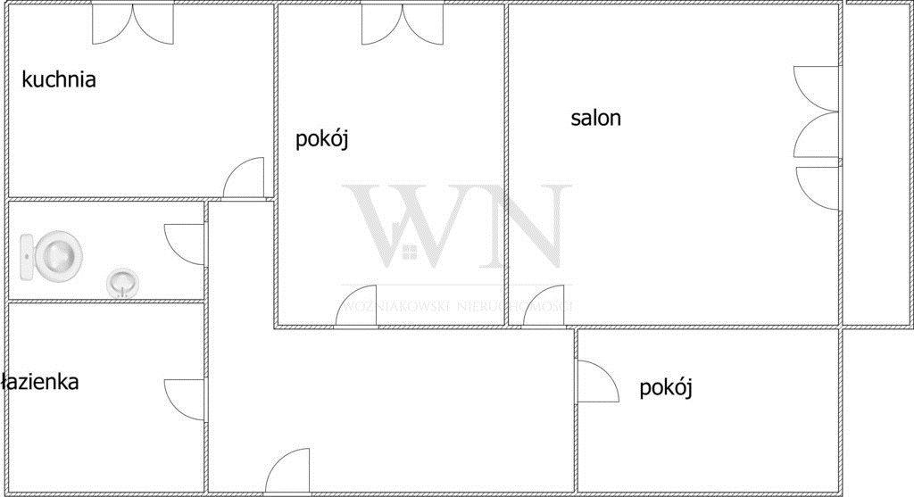 Mieszkanie trzypokojowe na sprzedaż Częstochowa, Północ  61m2 Foto 8