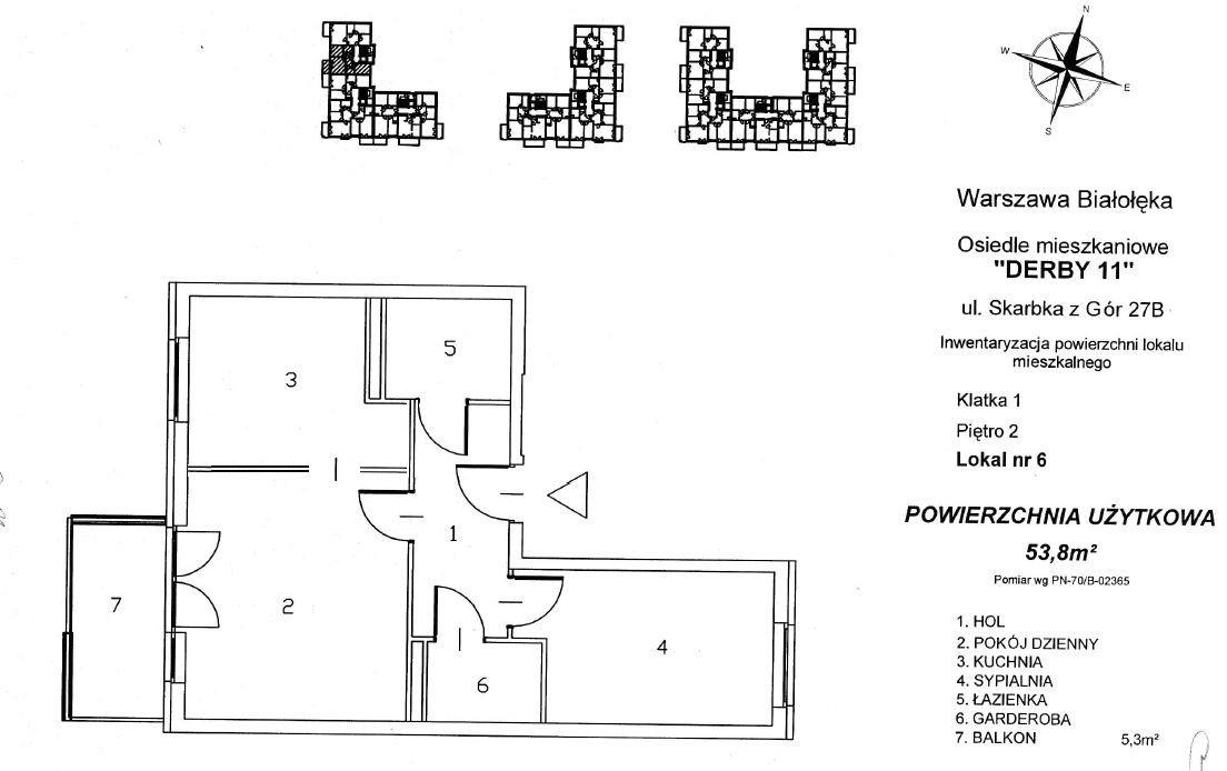 Mieszkanie dwupokojowe na sprzedaż Warszawa, Białołęka, derb, Skarbka z Gór 27B  54m2 Foto 4