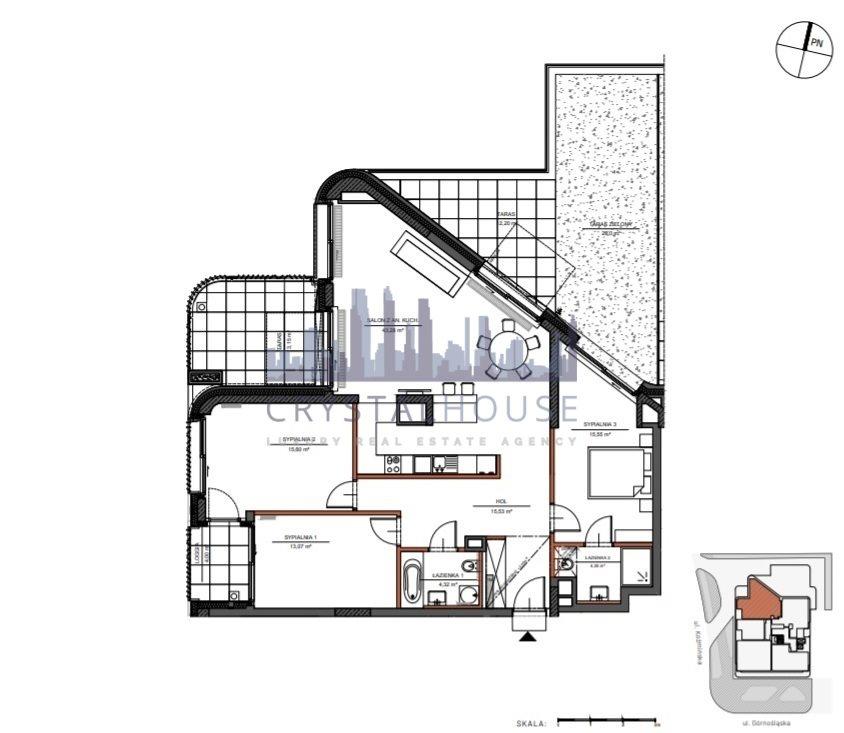 Mieszkanie czteropokojowe  na sprzedaż Warszawa, Śródmieście, Górnośląska  112m2 Foto 9