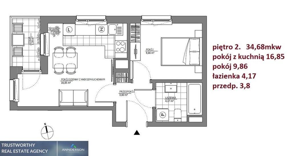 Mieszkanie dwupokojowe na sprzedaż Kraków, Łagiewniki-Borek Fałęcki, Łagiewniki-Borek Fałęcki, Aleksandra Fredry  35m2 Foto 5