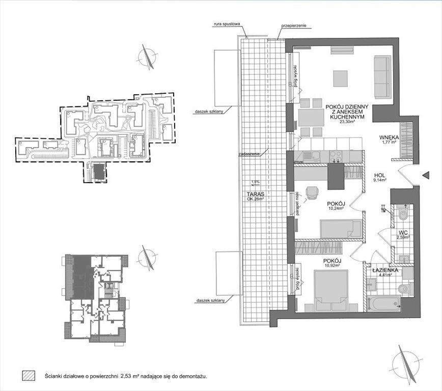 Mieszkanie trzypokojowe na sprzedaż Rumia, Żeglarzy  65m2 Foto 3