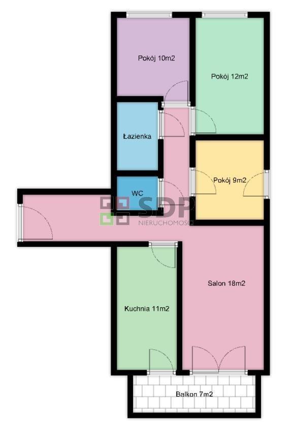 Mieszkanie czteropokojowe  na sprzedaż Wrocław, Psie Pole, Wojnów, Perkusyjna  83m2 Foto 3