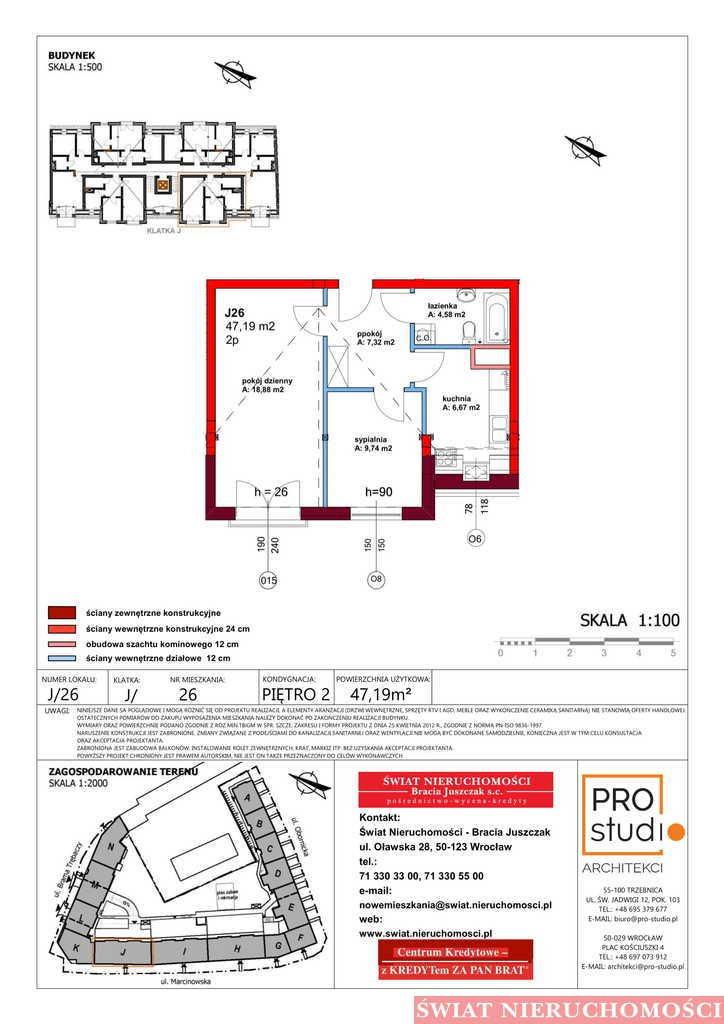 Mieszkanie dwupokojowe na sprzedaż Trzebnica  47m2 Foto 2