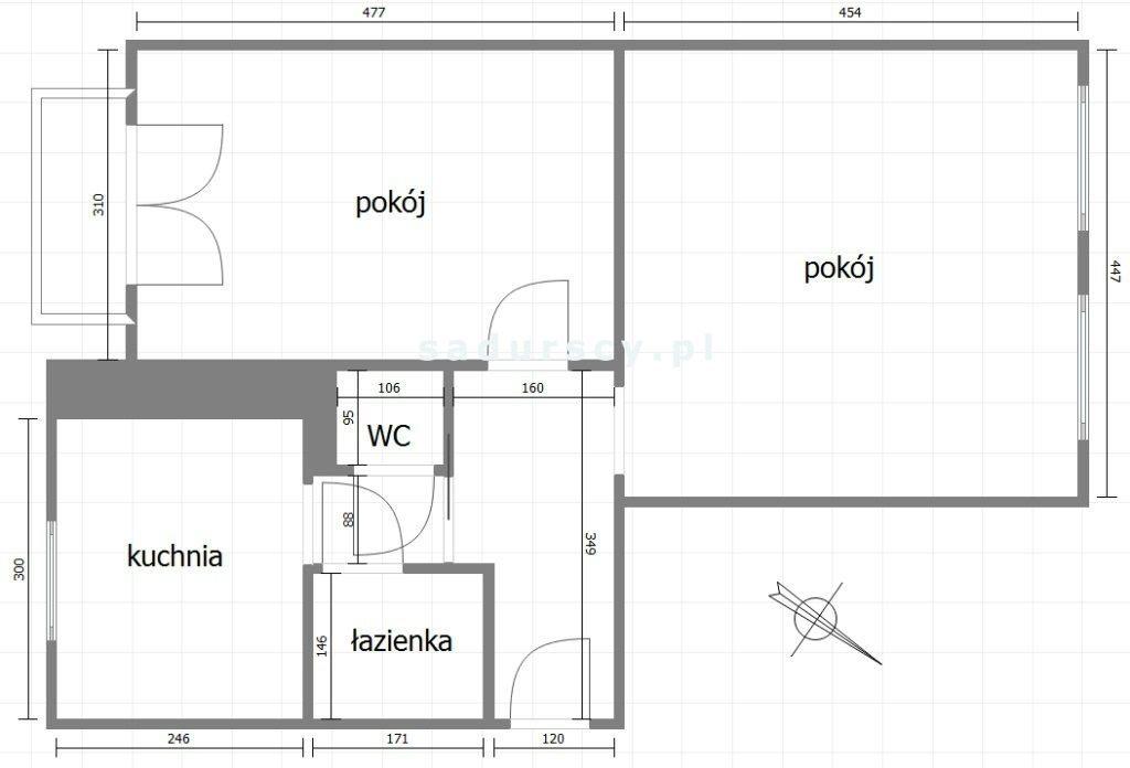 Mieszkanie dwupokojowe na sprzedaż Kraków, Stare Miasto, Stare Miasto, al. Słowackiego  53m2 Foto 4