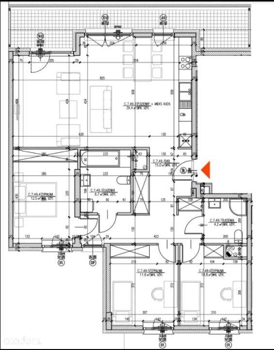 Mieszkanie czteropokojowe  na sprzedaż Warszawa, Josepha Conrada  101m2 Foto 15