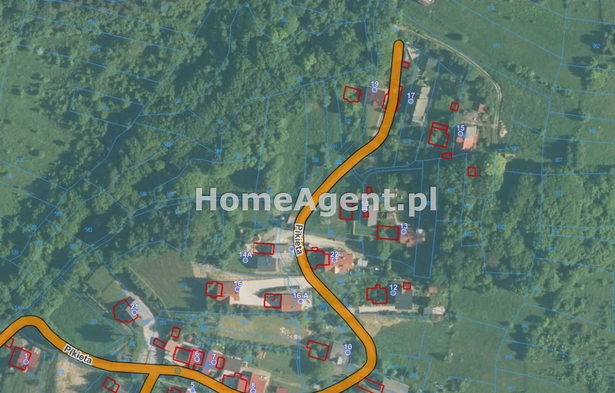 Działka budowlana na sprzedaż Sucha Beskidzka, Pikieta  1620m2 Foto 6