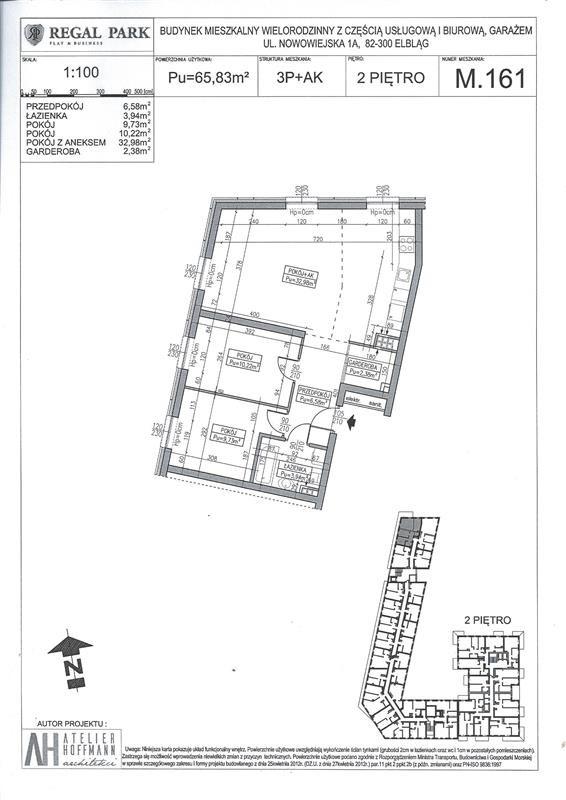 Mieszkanie trzypokojowe na sprzedaż Elbląg, Regal Park, Regal Park, Nowowiejska 1A  64m2 Foto 7