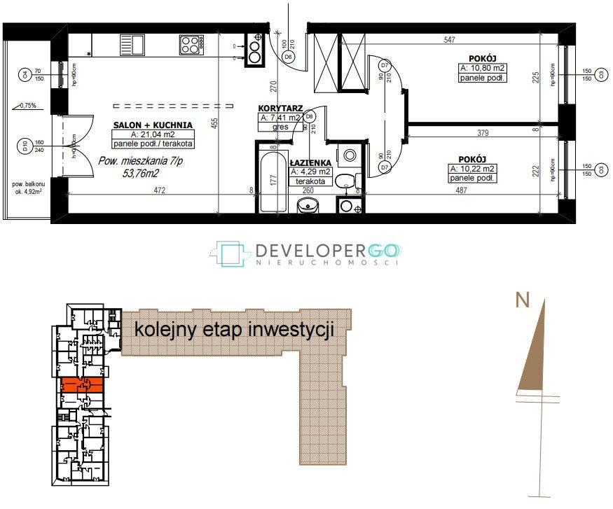 Mieszkanie trzypokojowe na sprzedaż Białystok, Antoniuk  50m2 Foto 9