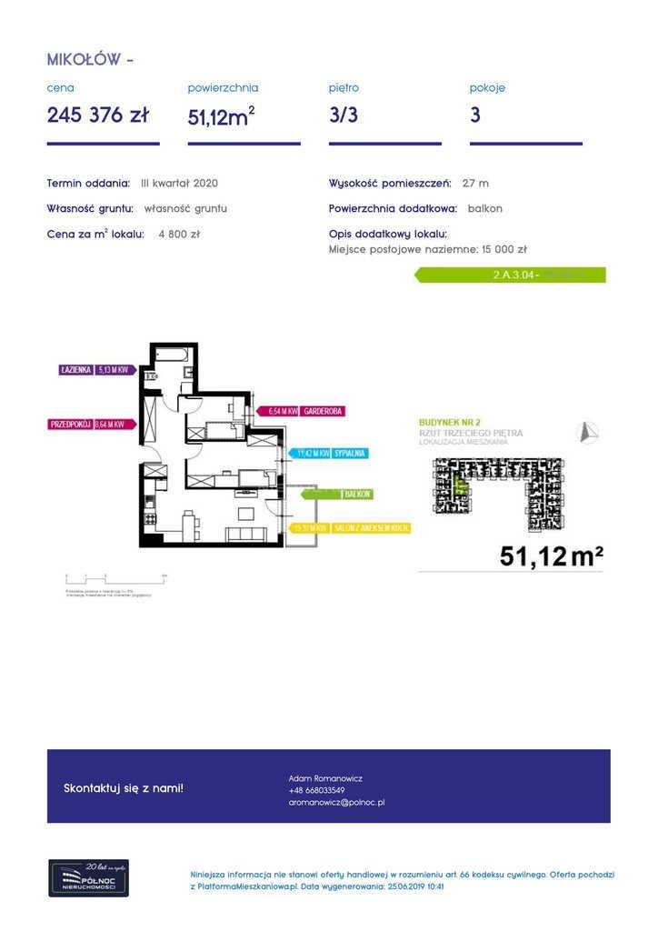 Mieszkanie dwupokojowe na sprzedaż Mikołów, storczyków  34m2 Foto 8