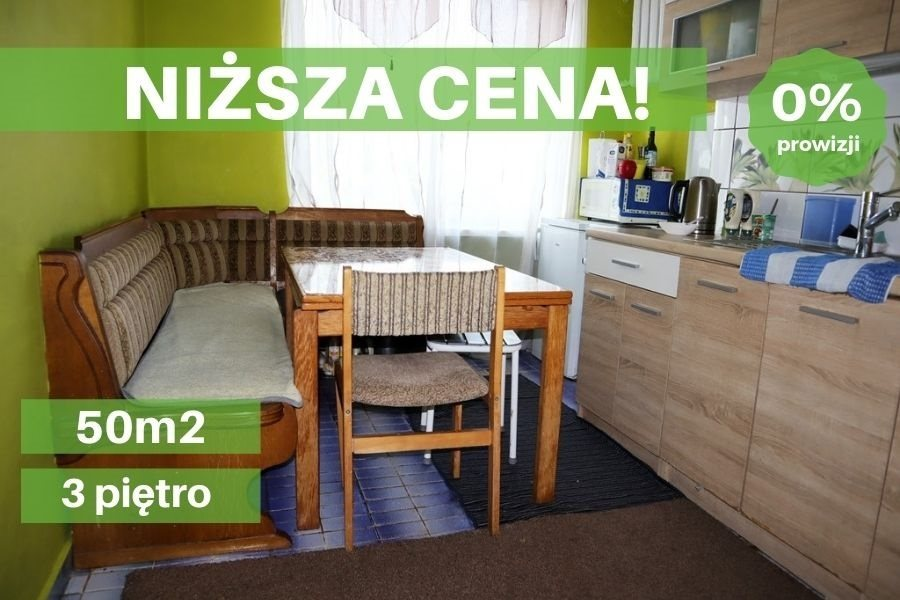 Mieszkanie dwupokojowe na sprzedaż Ełk, Centrum  50m2 Foto 1
